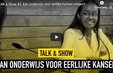 Meneer Kerpens en Amisha (5v) te gast in Talkshow